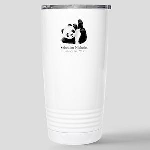 CUSTOM Baby Panda w/Name Birthdate Travel Mug