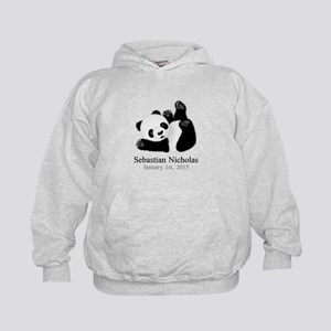 CUSTOM Baby Panda w/Name Birthdate Hoodie