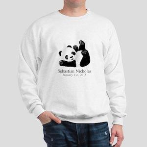 CUSTOM Baby Panda w/Name Birthdate Sweatshirt
