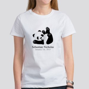 CUSTOM Baby Panda w/Name Birthdate T-Shirt