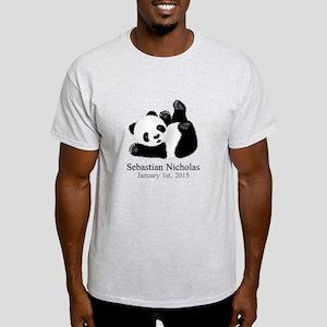 CUSTOM Baby Panda w/Name Birthdate T-Shirt