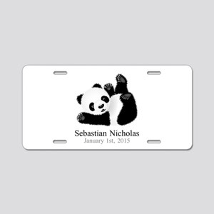 CUSTOM Baby Panda w/Name Birthdate Aluminum Licens