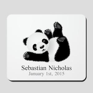 CUSTOM Baby Panda w/Name Birthdate Mousepad