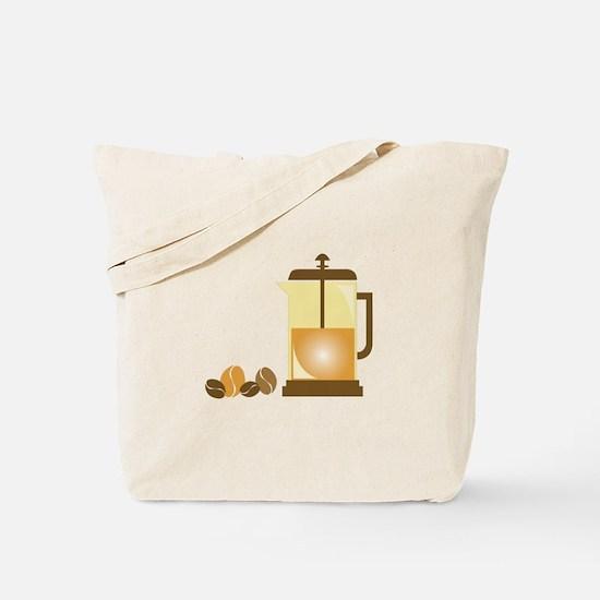 Press & Beans Tote Bag