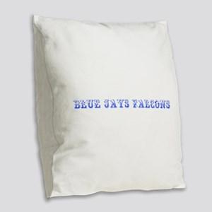 blue jays falcons-Max blue 400 Burlap Throw Pillow