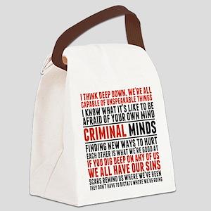 Criminal Minds Quotes Canvas Lunch Bag