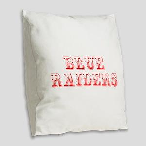 Blue Raiders-Max red 400 Burlap Throw Pillow