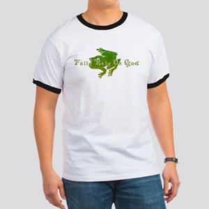 Green Fancy Frog Ringer T
