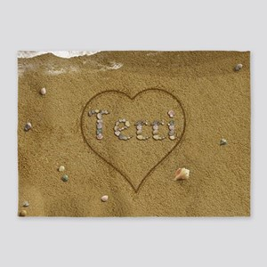 Terri Beach Love 5'x7'Area Rug
