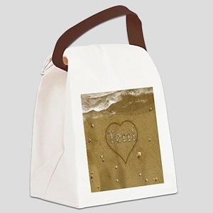 Terri Beach Love Canvas Lunch Bag