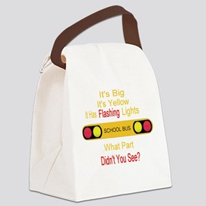 4-flashinglights Canvas Lunch Bag