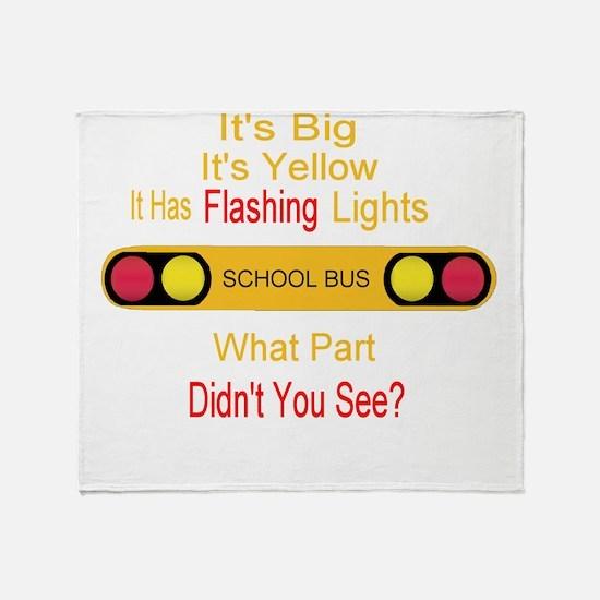 4-flashinglights.png Throw Blanket