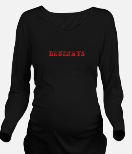 Bluejays-Max red 400 Long Sleeve Maternity T-Shirt