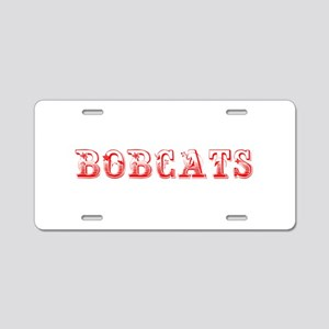Bobcats-Max red 400 Aluminum License Plate