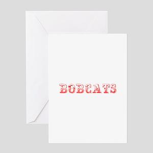 Bobcats-Max red 400 Greeting Cards