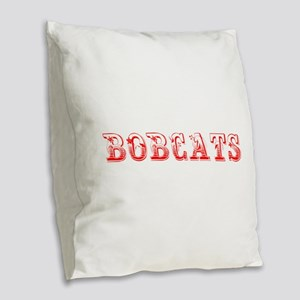 Bobcats-Max red 400 Burlap Throw Pillow