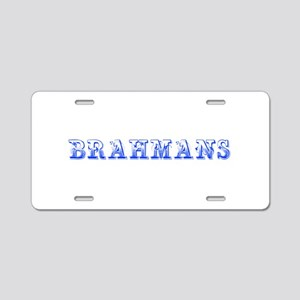 Brahmans-Max blue 400 Aluminum License Plate