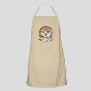 """I love Owls"" Cute Watercolor Owl Bird Art Apron"