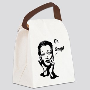 Oh snap. Canvas Lunch Bag