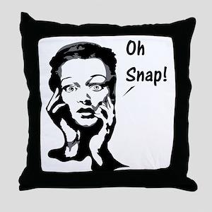 Oh snap. Throw Pillow