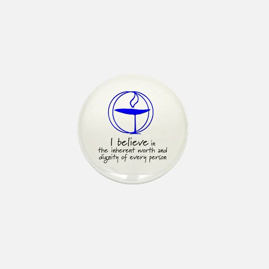 Inherent worth and dignity Mini Button