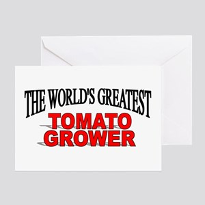 """""""The World's Greatest Tomato Grower"""" Greeting Card"""