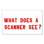 What does a scanner see? Rectangle Sticker