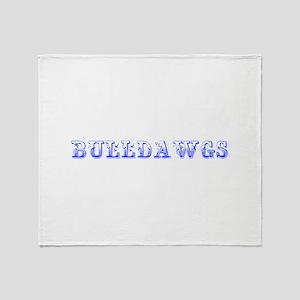 Bulldawgs-Max blue 400 Throw Blanket