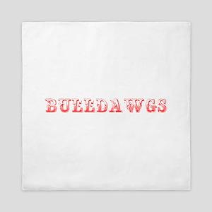 Bulldawgs-Max red 400 Queen Duvet