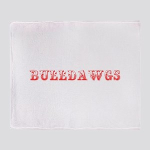 Bulldawgs-Max red 400 Throw Blanket