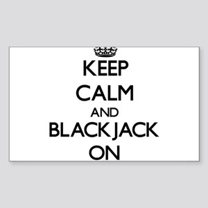 Keep Calm and Blackjack ON Sticker