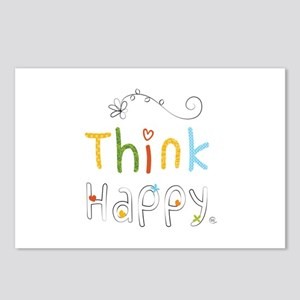 Think Happy Postcards (Package of 8)