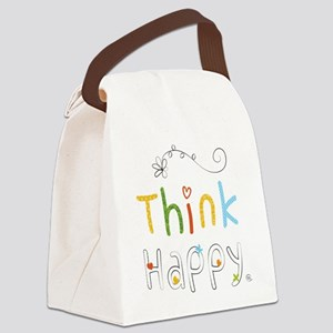 Think Happy Canvas Lunch Bag