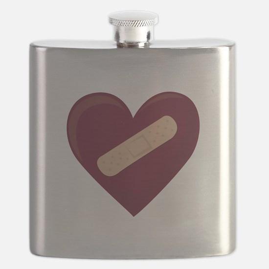Bandaged Heart Flask