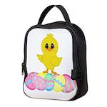 Easter Chick on Eggs Neoprene Lunch Bag