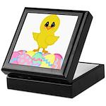 Easter Chick on Eggs Keepsake Box