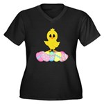 Easter Chick on Eggs Plus Size T-Shirt