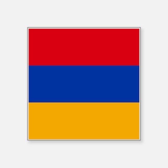 "Armenia Flag Square Sticker 3"" x 3"""