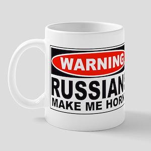 Warning Russians Make Me Horny Mug
