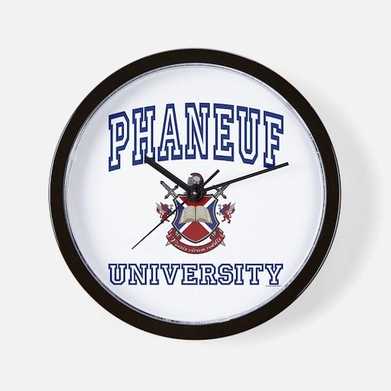 PHANEUF University Wall Clock