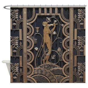 Art Deco Shower Curtains