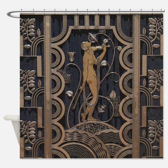 Art Deco Gilded Harmony Shower Curtain