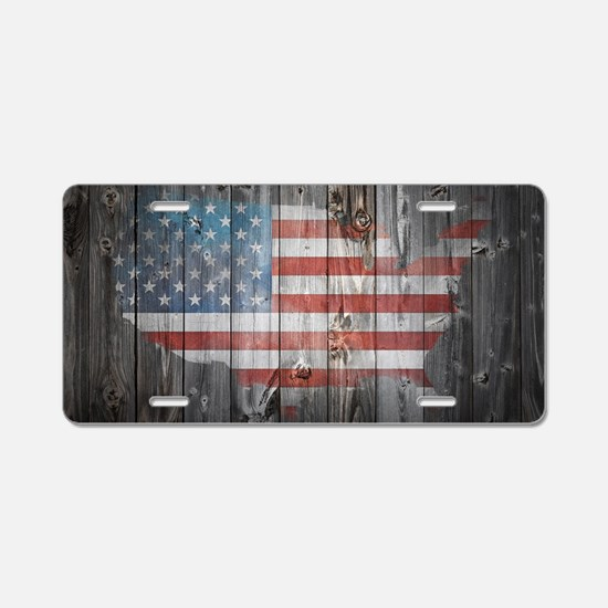 Unique Love america Aluminum License Plate