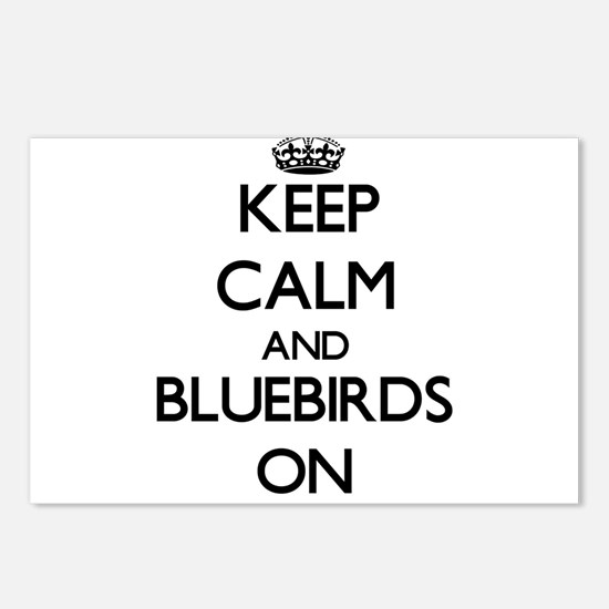 Keep Calm and Bluebirds O Postcards (Package of 8)