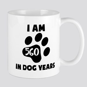 80th Birthday Dog Years Mugs