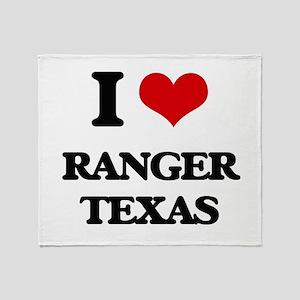 I love Ranger Texas Throw Blanket