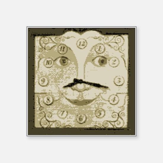 Grandfather Clock Face Sticker
