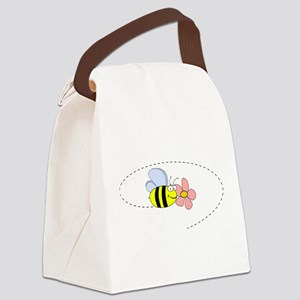 Bee and Flower Canvas Lunch Bag