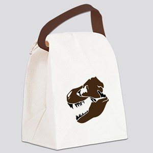 T-Rex Skull Canvas Lunch Bag