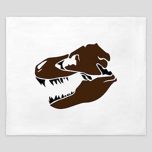 T-Rex Skull King Duvet